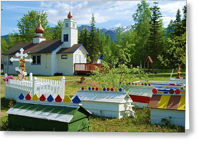 Saint Nicholas Orthodox-eklutna Alaska Greeting Card
