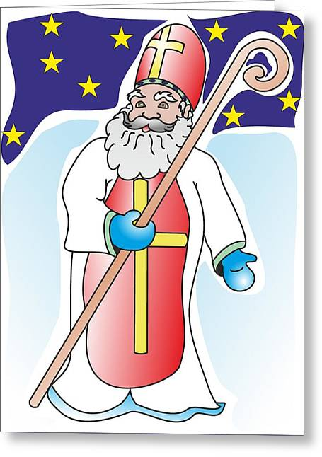 Saint Nicolas - My Www Vikinek-art.com Greeting Card by Viktor Lebeda