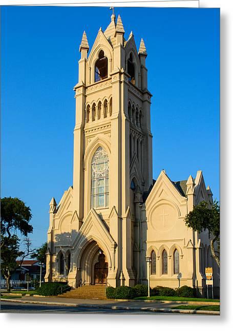 Saint Patrick Catholic Church Of Galveston Greeting Card