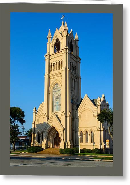 Saint Patrick Catholic Church Of Galveston Greeting Card by Tikvah's Hope