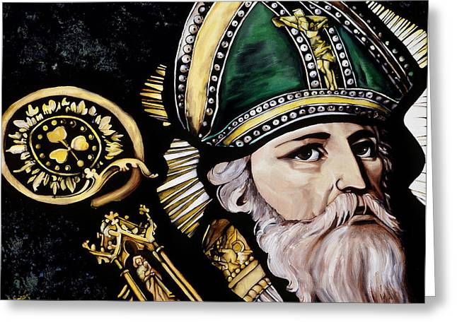 Saint Patrick Greeting Card by Leeann Stumpf