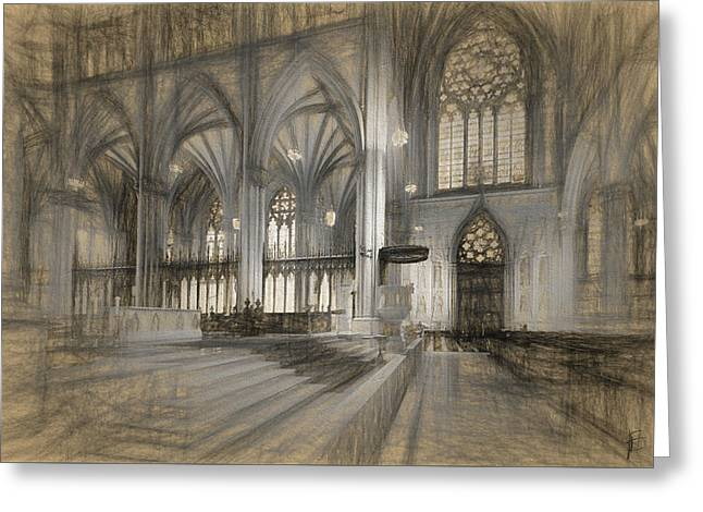 Saint Patrick's Cathedral In New York City Greeting Card