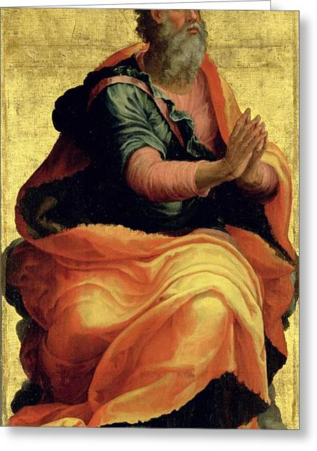 Saint Paul Greeting Cards - Saint Paul the Apostle Greeting Card by Marco Pino