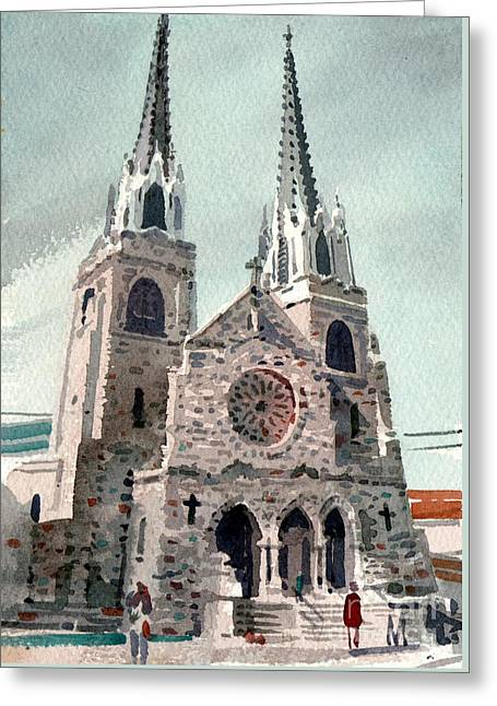 Saint Paul's Cathedral Greeting Card by Donald Maier