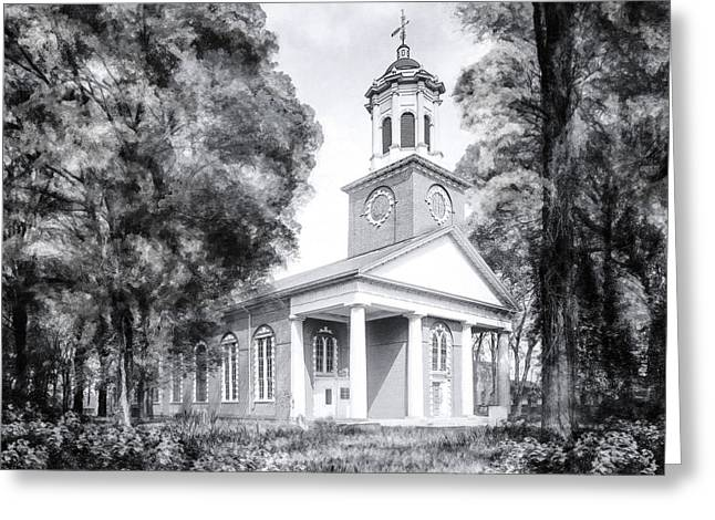 Saint Paul's Church - Historic Augusta Greeting Card