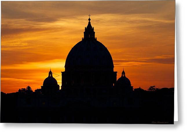 Saint Peters Sunset Greeting Card