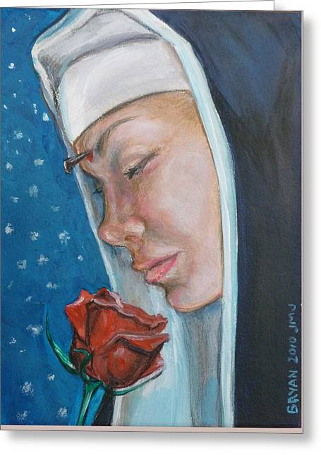 Saint Rita Of Cascia Greeting Card