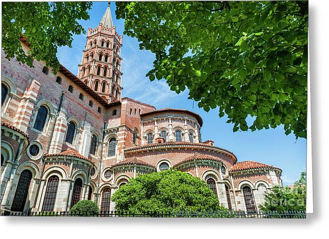 Saint Sernin Basilica Greeting Card by Elena Elisseeva