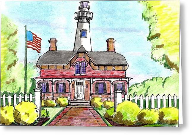 Saint Simons Lighthouse Greeting Card by Paul Meinerth