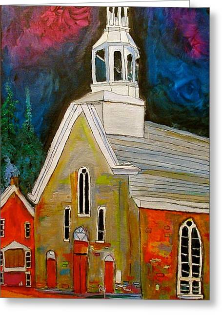 Saint Sophie Church Masson Greeting Card by Michael Litvack