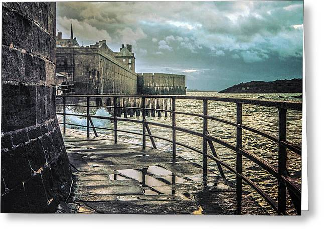 Saint-thomas's Gate In Saint-malo Greeting Card