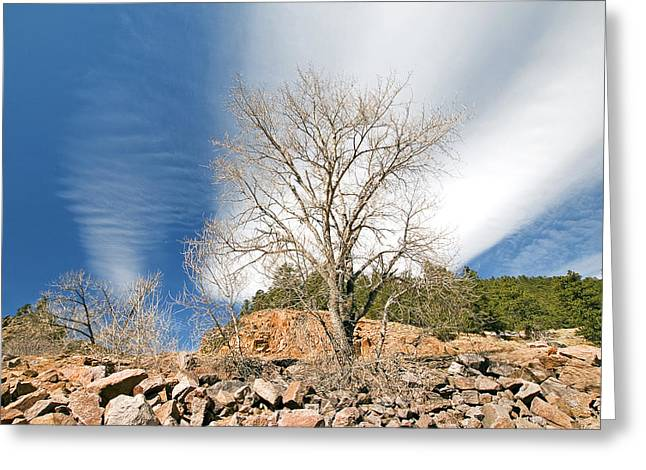 Saint Verain Sky Greeting Card by James Steele