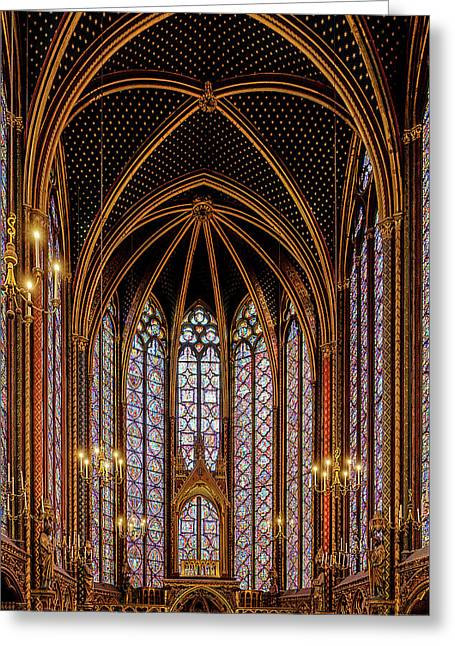 Sainte-chapelle 1 Greeting Card by Janet Fikar