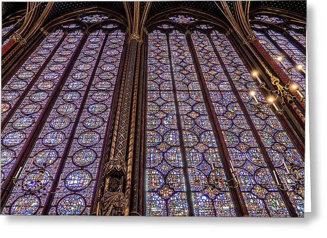 Sainte-chapelle 5 Greeting Card by Janet Fikar