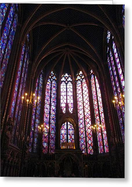 Greeting Card featuring the photograph Sainte-chapelle by Christopher Kirby