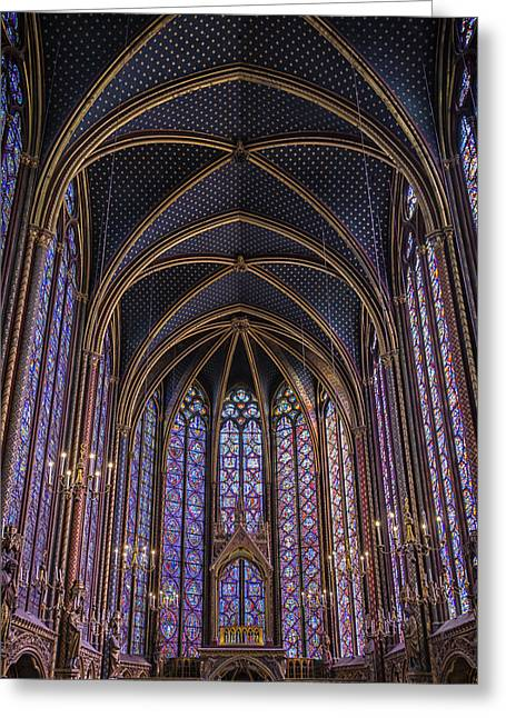 Sainte Chapelle Stained Glass Paris Greeting Card