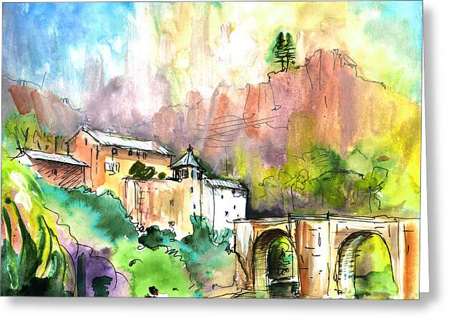 Sainte Enimie 03 Greeting Card by Miki De Goodaboom