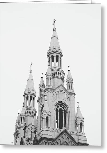 Saints Peter And Paul Church 1- By Linda Woods Greeting Card