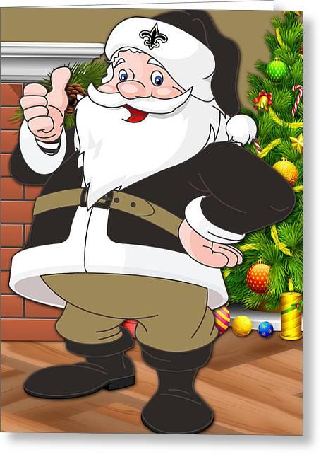 Saints Santa Claus Greeting Card by Joe Hamilton