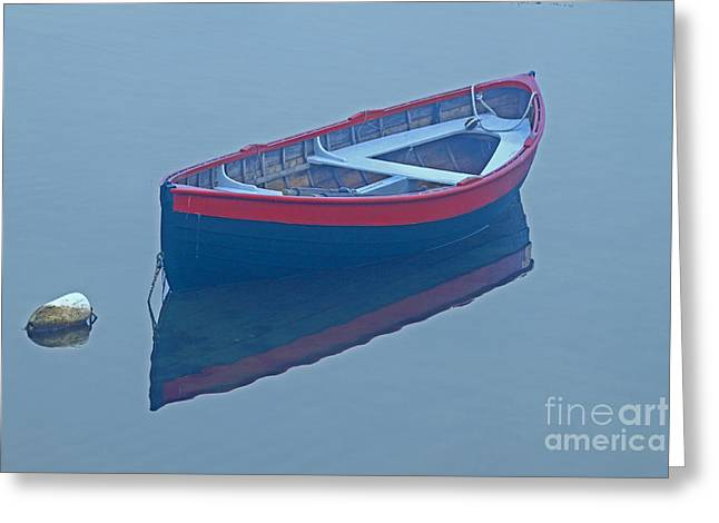 Sakonnet Point Dory Greeting Card by Jim Beckwith