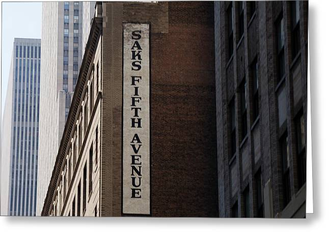 Saks Fifth Avenue - New York City Greeting Card