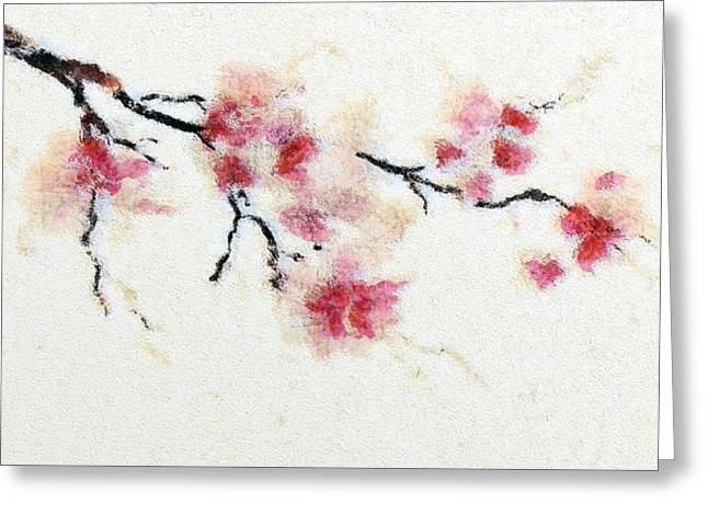 Sakura Branch Greeting Card