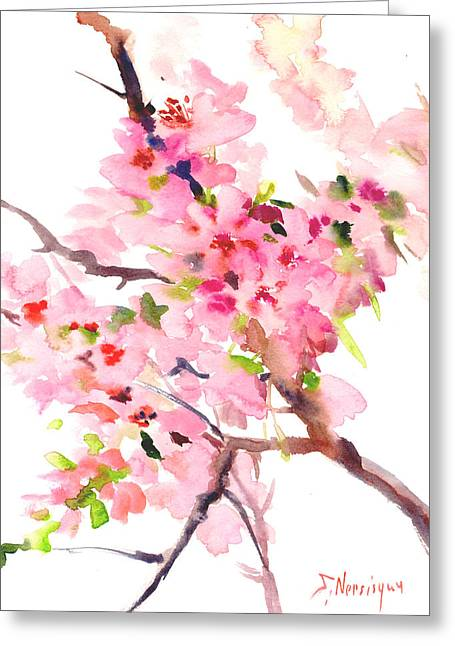 Sakura Cherry Blossom Greeting Card
