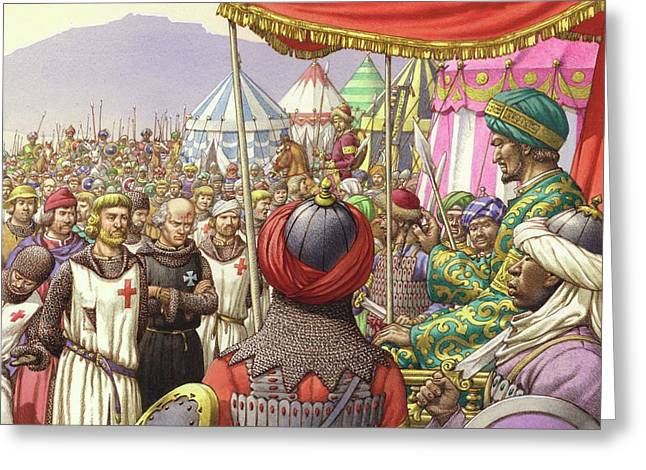 Saladin Orders The Execution Of Knights Templars And Hospitallers  Greeting Card