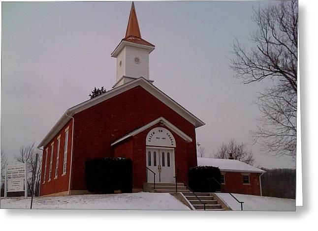 Jerry Browning Greeting Cards - Salem Church Greeting Card by Jerry Browning