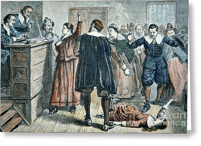 Salem Witch Trials Greeting Card