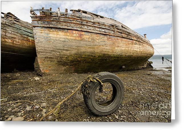 Salen Wrecks Greeting Card by Nichola Denny