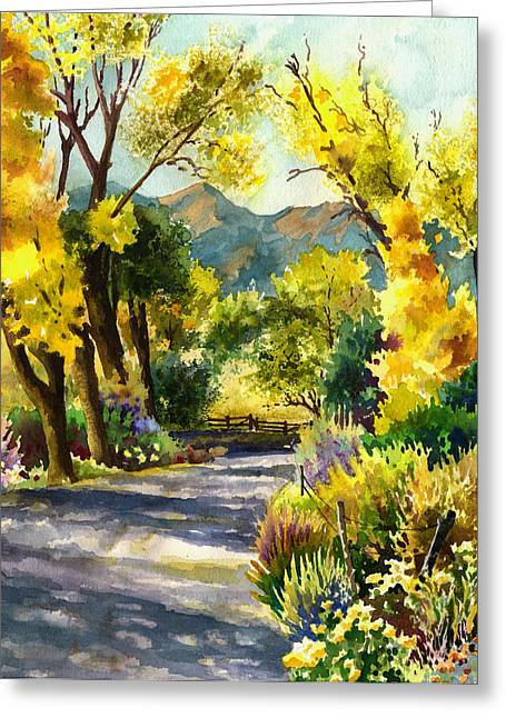 Salida Country Road Greeting Card by Anne Gifford