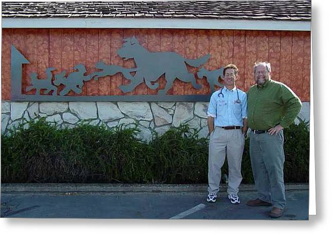 Commission Sculptures Greeting Cards - Salida Veterinary Clinic     SOLD Greeting Card by Steve Mudge