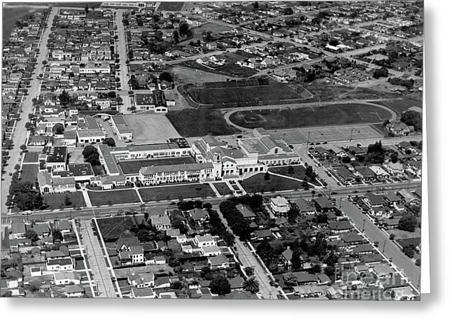 Salinas High School 726 S. Main Street, Salinas Circa 1950 Greeting Card