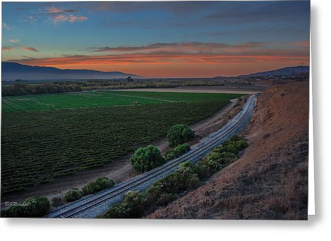Salinas Valley At Sunset Greeting Card