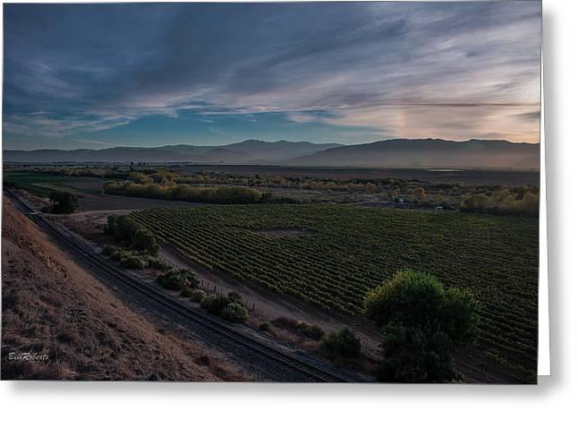 Salinas Valley Before Sundown Greeting Card