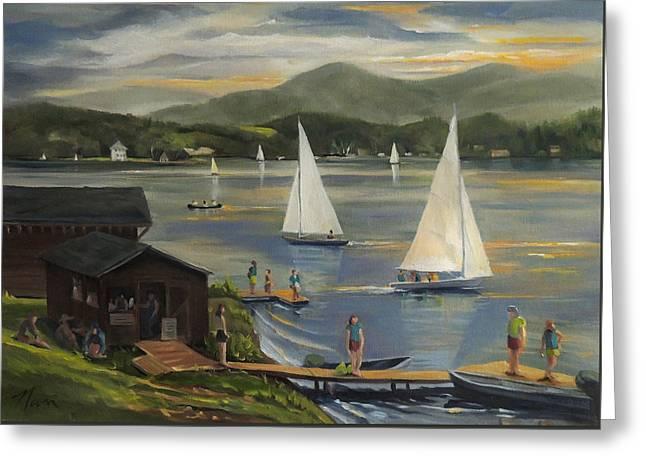 Sailing At Lake Morey Vermont Greeting Card