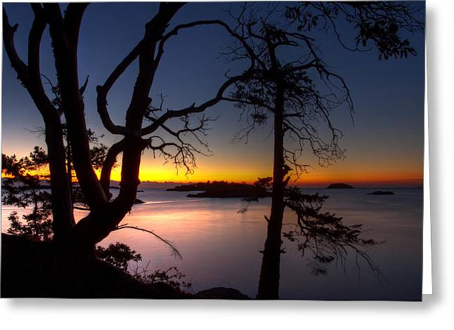 Salish Sunrise Greeting Card by Randy Hall
