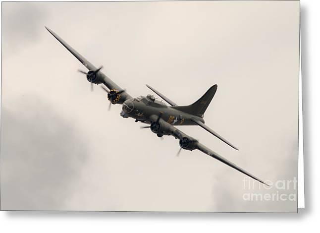Sally B Flying Fortress Greeting Card by J Biggadike