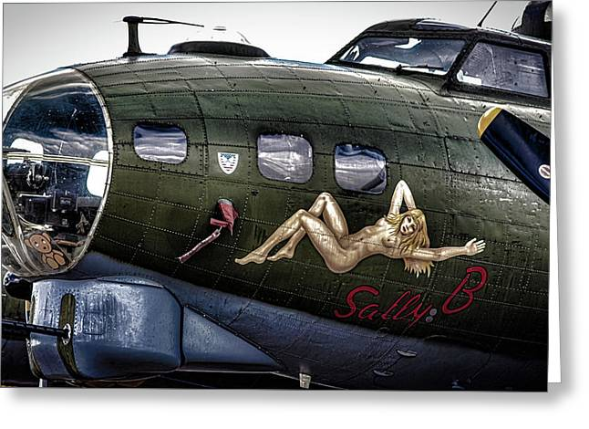 Sally B Greeting Card by Martin Newman