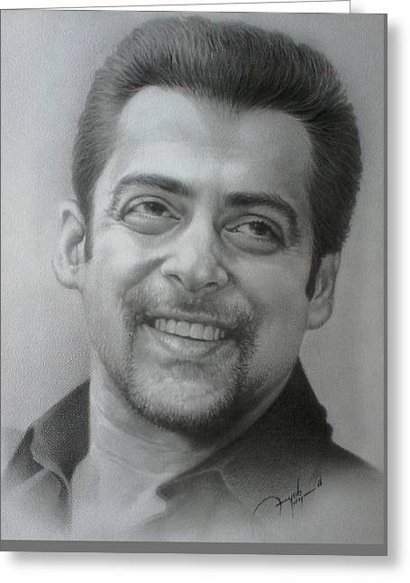 Salman Greeting Card by Ayub Majeed