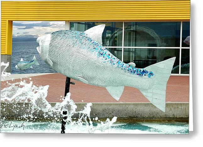 Salmon Escape Greeting Card