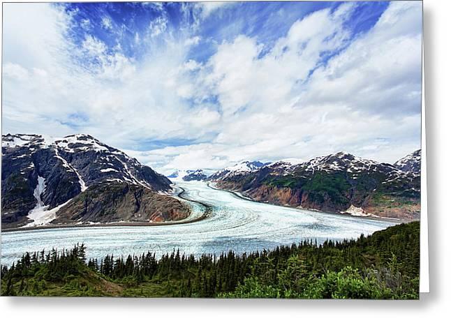 Salmon Glacier Greeting Card by Heidi Brand