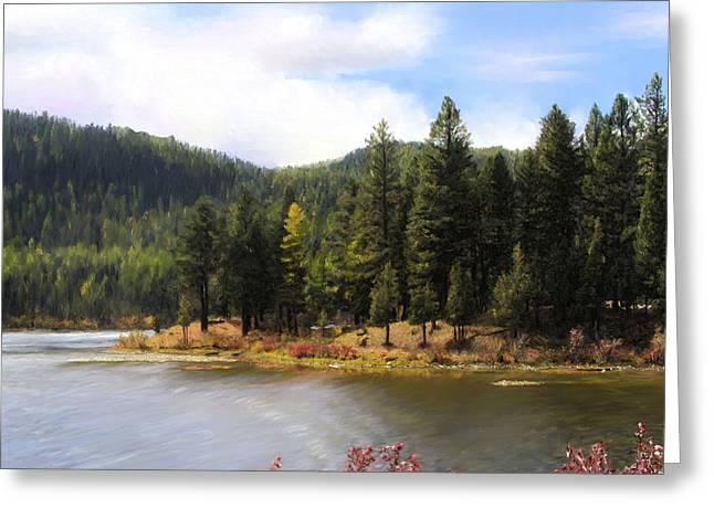 Salmon Lake Montana Greeting Card