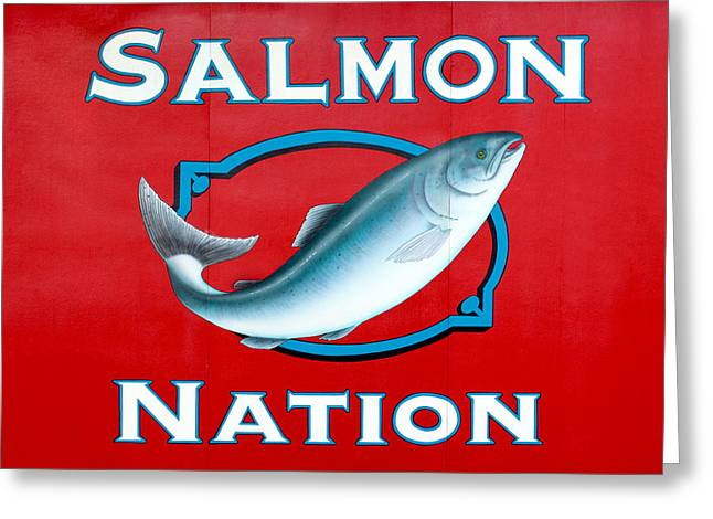 Salmon Nation Greeting Card