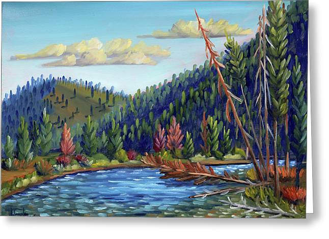 Salmon River - Stanley Greeting Card