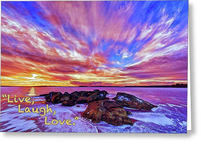 Greeting Card featuring the photograph Live, Laugh, Love by ABeautifulSky Photography