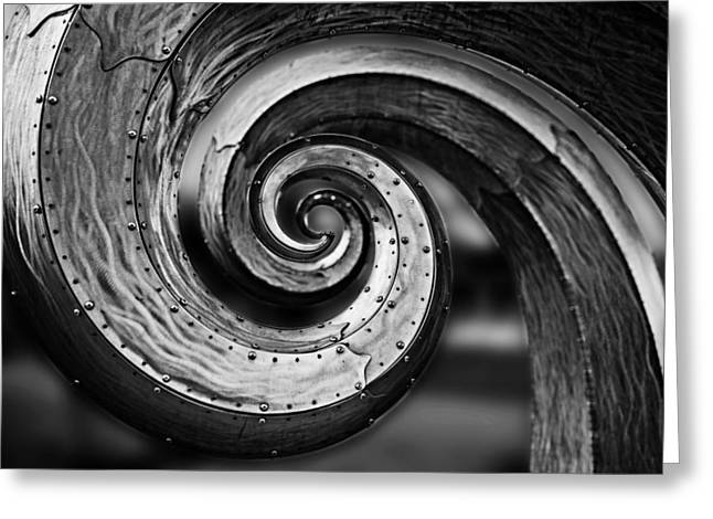 Salmon Waves Black And White 2 Greeting Card