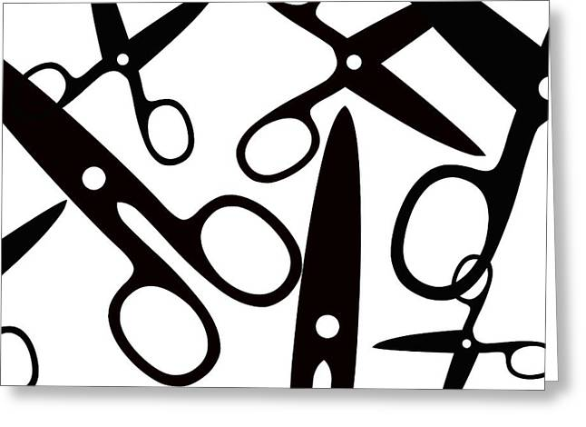 Salon Scissors Greeting Card by Chastity Hoff