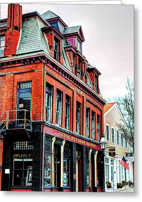 Greeting Card featuring the photograph Saloon Bristol Ri by Tom Prendergast